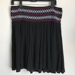 2/2x black short skirt smocked wide waist band
